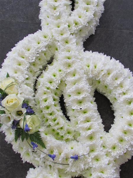 Musical Treble Clef Funeral Flowers By Townend Florist In