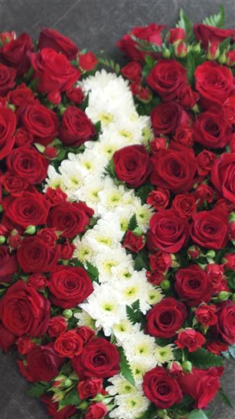 Heart Funeral Flower Tribute By Townend Florist In Sheffield