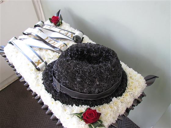 Trilby Hat Funeral Tribute Funeral Flowers Sheffield